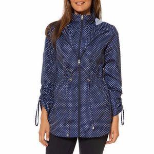NWT Jones New York blue polka dot parka jacket